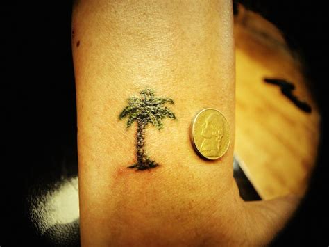 tiny palm tree tattoo palm tree wrist