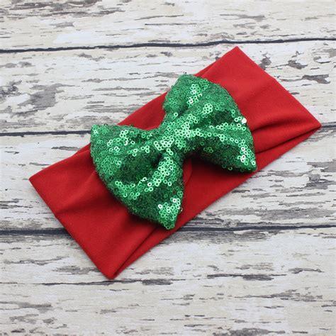 jersey sequin baby headband gold from big bow headband white green headband
