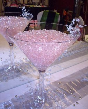 giant martini glass with pink crystals. I can put my