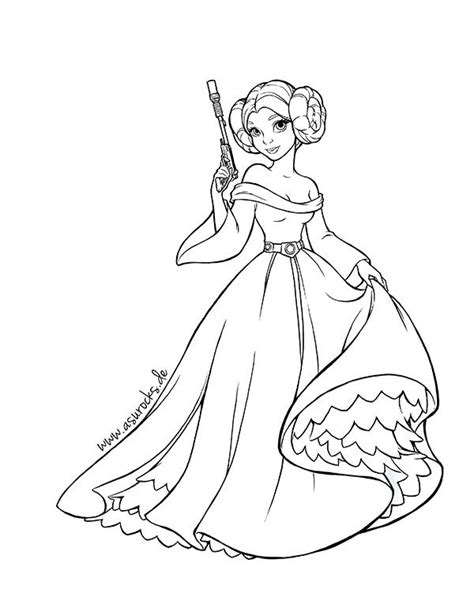 coloring pages princess leia star wars princess leia coloring pages google search