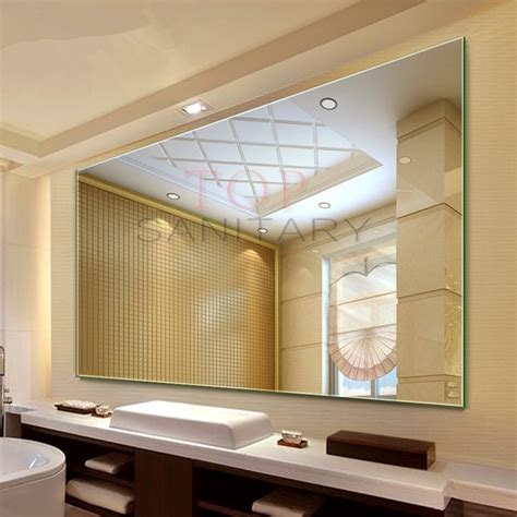 commercial bathroom mirror 1500 x 900mm mirror bathroom commercial large frameless