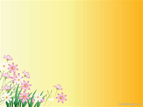 powerpoint templates free download yellow flower yellow background hd slide backgrounds