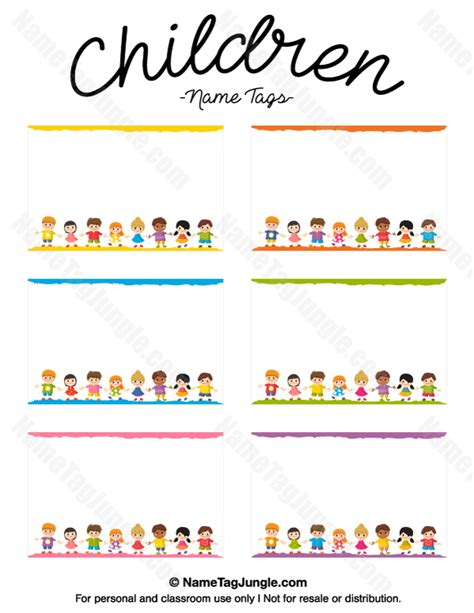 Children S Name Card Templates by Free Printable Children Name Tags The Template Can Also