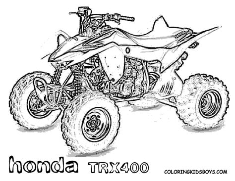 Coloring Page 4 Wheeler by Bike Coloring Pages Bike Coloring Pages Dirt