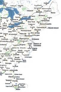 map of eastern seaboard united states related keywords suggestions for eastern seaboard