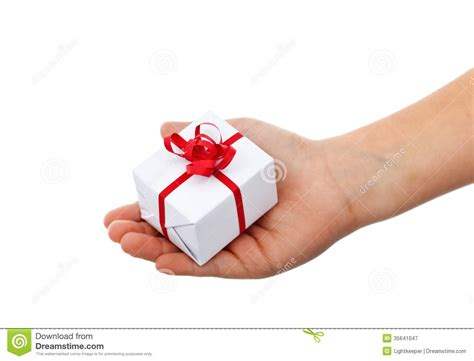 Small Gifts Small Gift In Child Royalty Free Stock