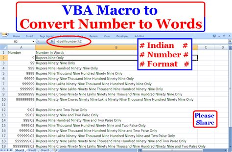 excel tips and tricks to execute excel programming volume 2 books how to convert numbers to words in indian currency format