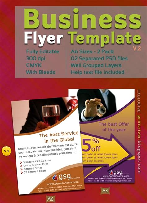 flyer advertisement template 60 free psd poster and flyer templates updated