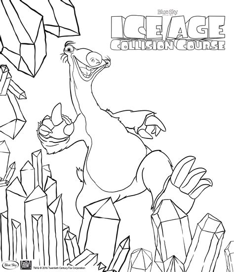 click here for ice age coloring pages kid crafts ice age collision course colouring in pages for kids