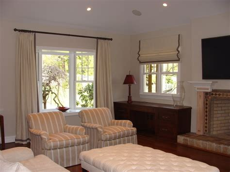 stationary panels and valance transitional family room other metro by maria j window curtains transitional living room other by curtain works of greenwich