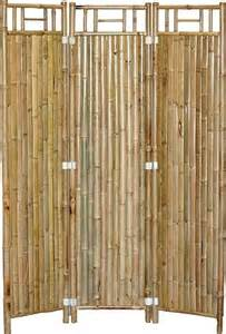 bamboo privacy screen asian screens and room dividers
