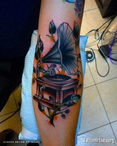 phonograph tattoo phonograph ink phonograph