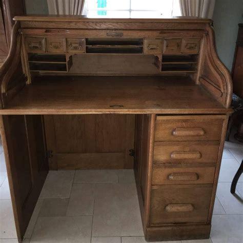 wooden roll top desk oak wooden roll top desk appr 1920 1930