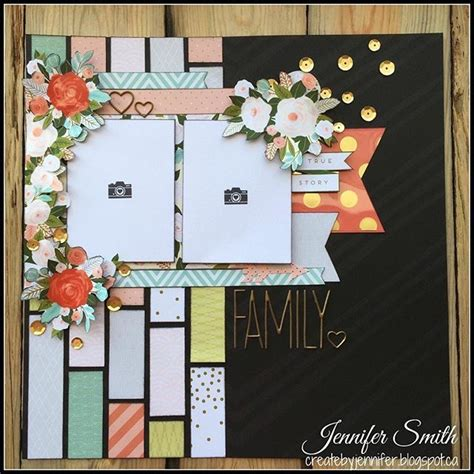 layout en scrapbooking family single page scrapbook layout using scraps of close