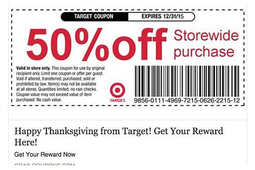 coupon code target december 2018