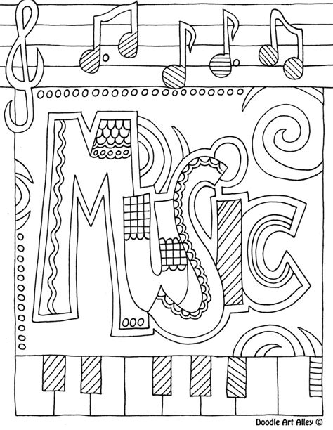 musical coloring pages az coloring pages