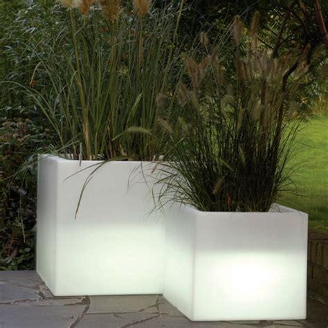 serralunga cubotti illuminated outdoor planter lighted