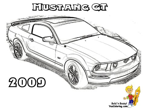 coloring pages cars mustang fierce car coloring ford cars free mustangs t bird