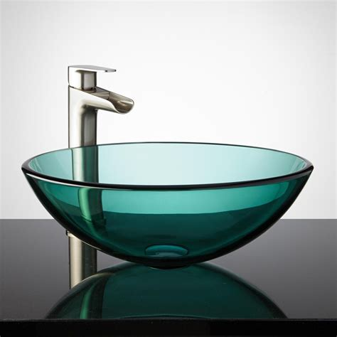 glass sinks for bathrooms 20 glass sink design ideas for bathroom inspirationseek com