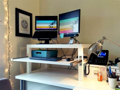 Stand Up Desk Ikea Hack Best Ikea Standing Desk Hack Inspirations Minimalist Desk Design Ideas