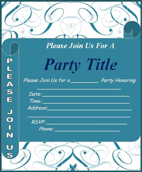 invite template invitation templates free word s templates