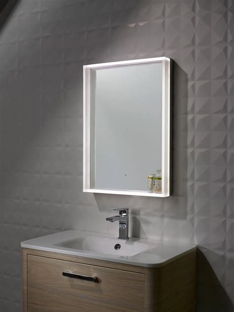 roper rhodes bathroom mirrors roper rhodes aura illuminated framed mirror 500 x 700mm