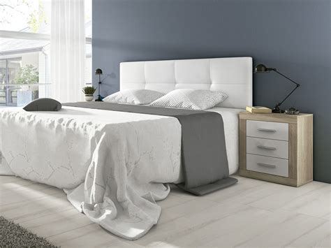cabezales de cama de matrimonio cabecero de cama acolchado cabezal cama tapizado color blanco