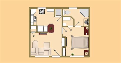 small house plans 500 sq ft 3d