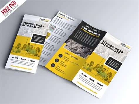 free tri fold brochure template psd 50 free business brochure templates psd to