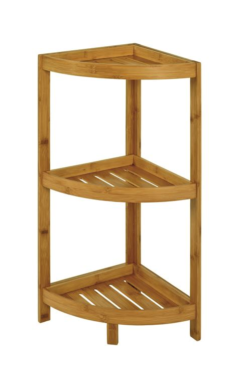 marbella bathroom bamboo corner shelf unit - Corner Badezimmerregal