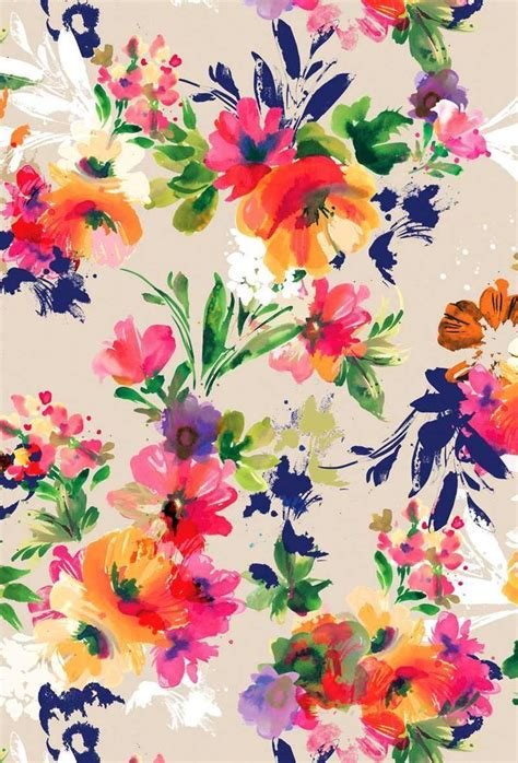 natural pattern flower bright floral print colour style printy pinterest