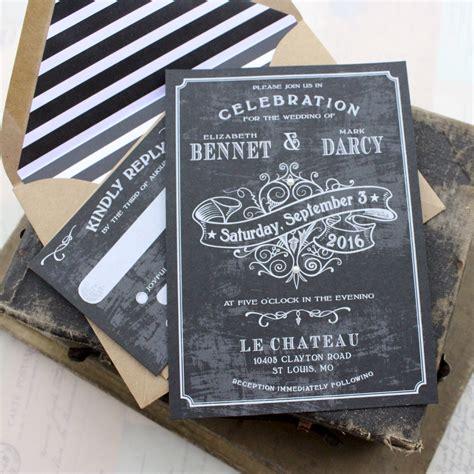 Chalkboard Wedding Invitations