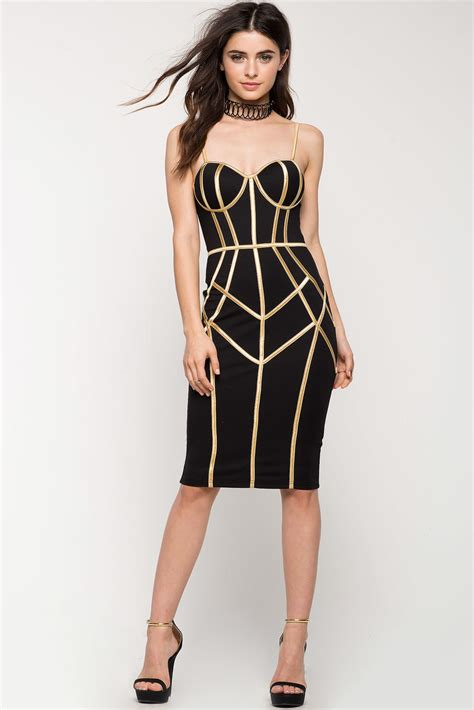 Goldy 4 Dress s bodycon dresses goldie pipe bustier dress a gaci