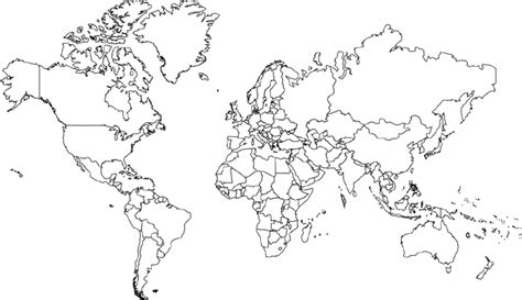 world map mercator projection  borders  north america