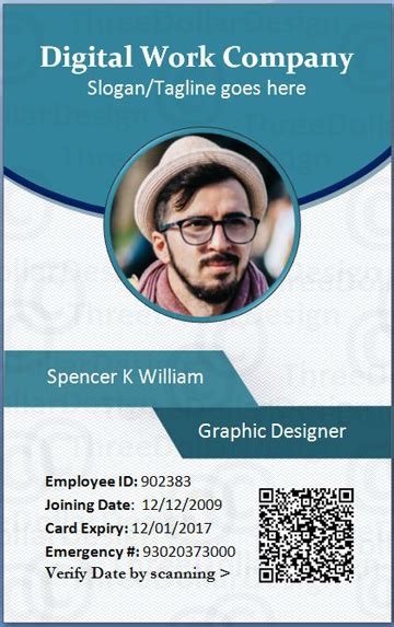 business id card template employee card format in word 100 employee card template