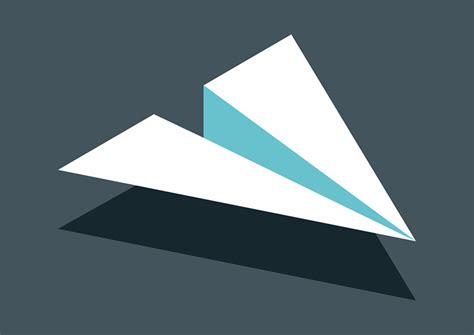 Paper Flight - isometric flat paper plane