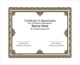 free certificate of appreciation templates for word 27 word certificate templates free free