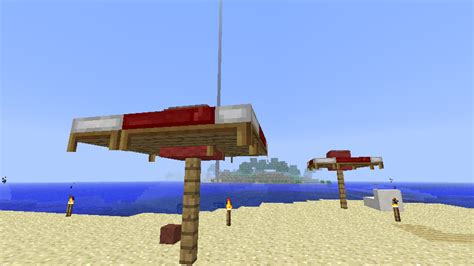 How To Craft A Bed In Minecraft Detail A Simple Beach Umbrella Minecraft