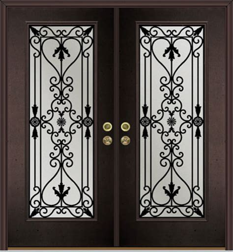 Wrought Iron Door Inserts by Wrought Iron Inserts Craftsman Front Doors Other