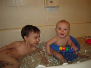 the wisener family bathing together
