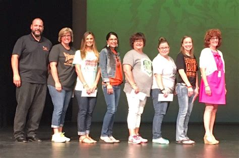 tahlequah public schools tahlequah public schools foundation awards top teachers