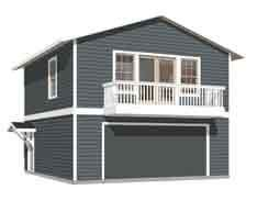 Garage Apartment Plans With Balcony by Garage Plans By Behm Design Apartment Garage Plan Features