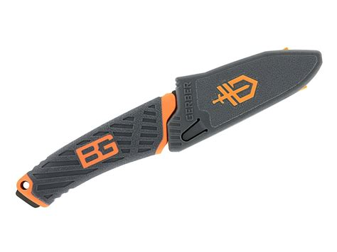 Gerber Grylls Compact Fixed Blade 7cr17mov Black Combo Edge 31 00 gerber grylls compact fixed blade knife 3 4 drop point 7cr17mov