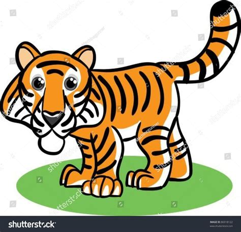 chinese zodiac tiger stock vector illustration 86918122