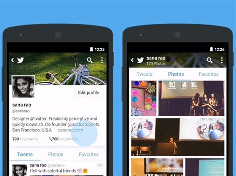twitter layout android twitter for android gets reved profiles with bigger
