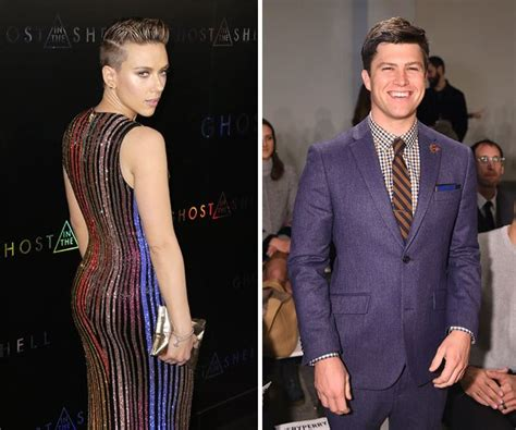 Justin And Scarletts Miami Hookup by Johansson Dating Colin Jost They Hooked Up After
