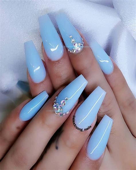 blue light for nails light blue and silver nail designs www pixshark com