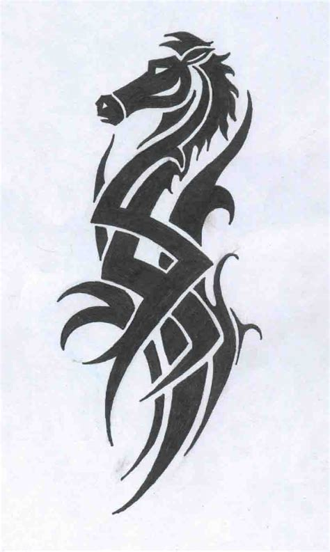 tribal horse tattoo tribal drawing