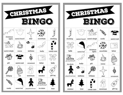 printable christmas bingo cards black and white free christmas bingo printable cards paper trail design
