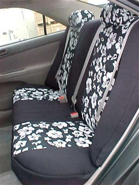 toyota matrix pattern seat covers rear seats okole